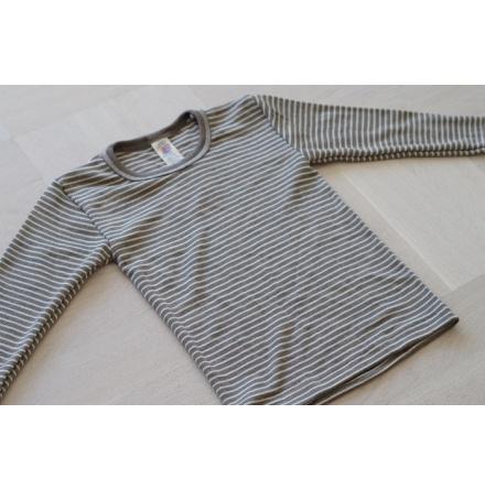 Engel tröja i ull/silke, valnöt/natur