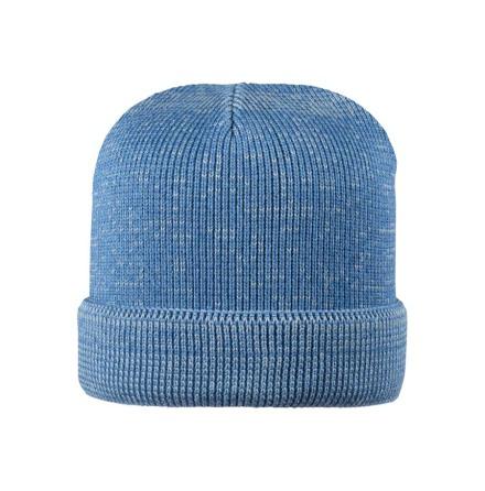 Pure Pure stickad mössa i ullsilke, blå