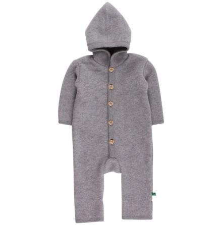 Fred's world wool fleece suit with hood, grey