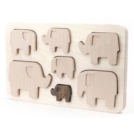 Bajo Träpussel - Elefanter