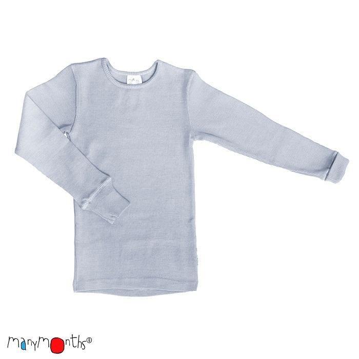 Manymonths tröja i naturlig merinoull, silvergrå
