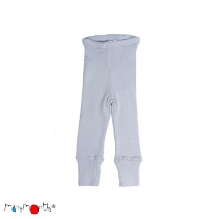 Manymonths leggings i naturlig merinoull, silvergrå