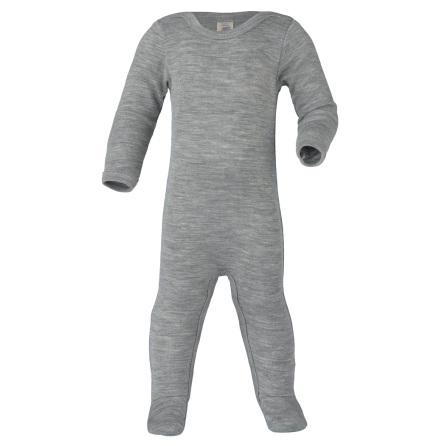 Engel overall m fot i ull/silke, grå